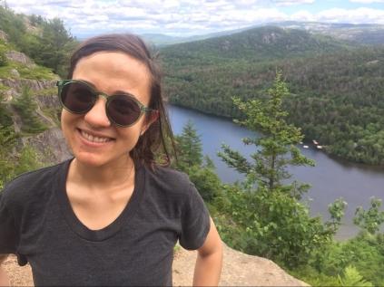 Marisa hiking in Maine